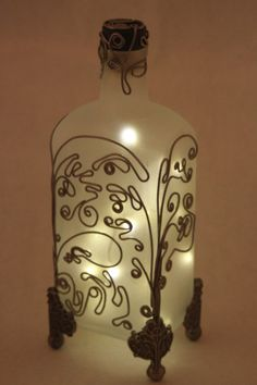 Wire Bottle Design Soft abstract wire design on by MissBeezz, $55.00