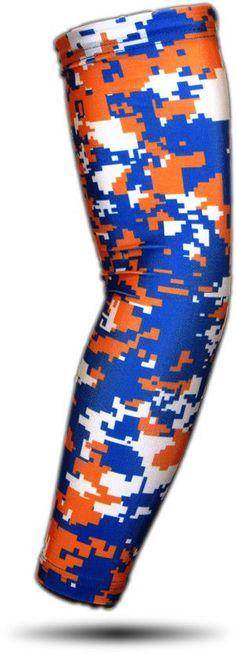 ARM SLEEVE ● Blue Orange White Digital Camo