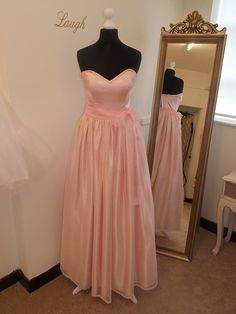 SALE 50% OFF Pastel Baby Pink Soft Tulle Sweetheart Strapless