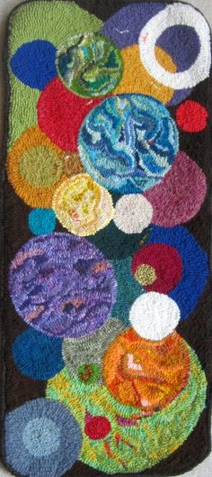 Circle of Life by Gun-Marie Nalsen  Rug hooking