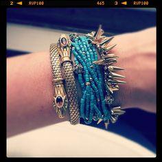 I'm loving the Renegade Cluster, Serpent, and Callie Bracelets together! www.stelladot.com/robinadams