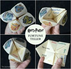 Harry Potter Fortune Teller Printable And Tutorial - The Suburban Mom Harry Potter Fortune Teller Printable And Tutorial - The Suburban Mom Love Harry Potter? Check out our Harry Potter Fanf. Harry Potter Motto Party, Harry Potter Fiesta, Harry Potter Thema, Classe Harry Potter, Harry Potter Bookmark, Cumpleaños Harry Potter, Harry Potter Classroom, Harry Potter Birthday, Harry Potter Classes