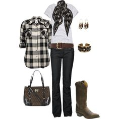 Brown & Black Country, created by heather-rolin.polyvore.com