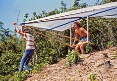 Hang gliding on a budget, late 1970s -- photo 1/4 by jimflix!, via Flickr