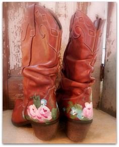 shabby cowgirl boots  How to ....