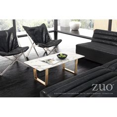 the Atlas coffee table features a slim cross style base in stainless steel finished in bright Gold; supporting a stunning faux marble round top. Velvet Furniture, White Furniture, Accent Furniture, Contemporary Furniture, Outdoor Furniture Sets, Apartment Therapy, Narrow Coffee Table, Atlas Coffee, Cozy Sofa