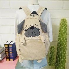 Cute Corduroy #pug Back Pack - NEW!