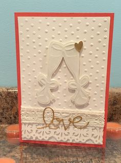 Wedding card made with CTMH paper and SYI Cricut Cart