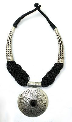 Beaded Tribal Necklace Black