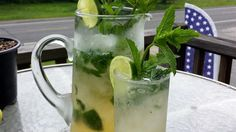 This recipe whips up a whole pitcher of mojitos with plenty of mint leaves and limes for a refreshing summer drink. Pour one for you and 5 friends and enjoy.