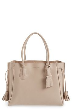 Longchamp  Penelope  Tassel Drawstring Leather Tote  bf29cd7ca855f