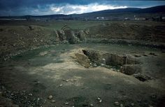 The remains of the amphitheatre of Lambaesis, Algeria. Picture taken by Th. Weber.