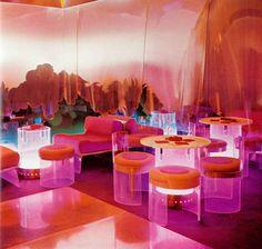 Nightclub Il Grifoncino, 1968. Bolzano, Italy. Interior design by Cesare Casati, Gino Marotta & Emmanuele Ponzio