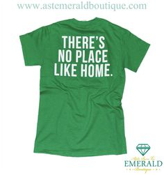 "Alpha Sigma Tau + Emerald Boutique ""There's no place like home"" Greek Week Tee"
