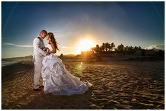 A real sunset wedding