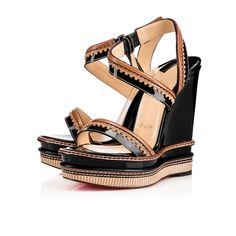 Shop Christian Louboutin Trepi Heel Patent - Shoes - Women from stores. Christian Louboutin Sandals, Christian Louboutin Women, Louboutin Shoes, Black Patent Leather Shoes, Patent Shoes, Black Shoes, Leather Sandals, Black High Heel Sandals, High Heels