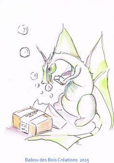 un dragon trop gourmand , esquisse sur papier Dragons, Art, Sketching, Paper, Art Background, Kunst, Performing Arts, Kites, Art Education Resources