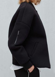 Pocket cotton bomber jacket--MANGO