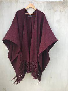 Poncho Vino Mexicano Mexican Design, Product Page, Boho, Kimono Top, Women, Fashion, Ponchos, Fabrics, Moda