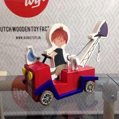 Houten kraanwagen van Pluk van de Petteflet. V/a juni. #houtenspeelgoed #toys #fiepwestendorp