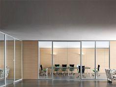 Divisória para escritório modular de vidro WALLTECH Linha Estel Office by ESTEL GROUP