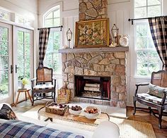 Rustic elegance describes this space!