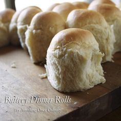 Buttery Dinner Rolls are faster to make than the average roll and worth every minute! (Tip: Leftover rolls make really good sandwiches for lunch the next day...)