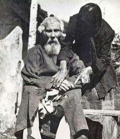 Единственная фотография участника Бородинского сражения. Павел Яковлевич Толстогузов в возрасте 117 лет, 1912 год.