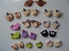 Animal magnets clay