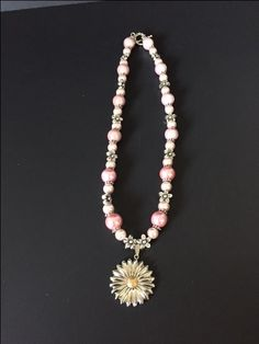 Elegant Pink necklace by SdRDangle on Etsy