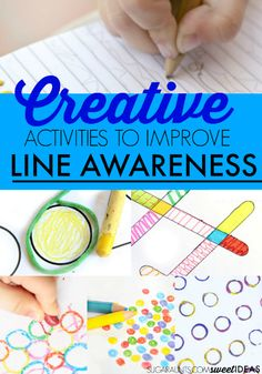 Creative activities to work on line awareness in handwriting
