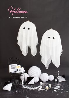 DIY Giant Balloon Ghosts | Oh Happy Day!