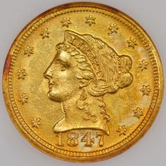 New York Gold Mart Co., 1847-D $2.50 NGC MS62, Price: $12,000.00. http://www.collectorscorner.com/Products/Item.aspx?id=18784376. #Gold #Coin #ForSale #NGC #MintState #Rare #Numismatic #Collectible #Beautiful #Clean #Surface #Wild #Color #Sharp #Strike #Online #Marketplace #Buy #Wow #Collectors #Welcome