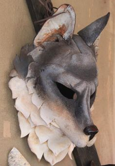 Cool Wolf Mask by Rainwalker Masks