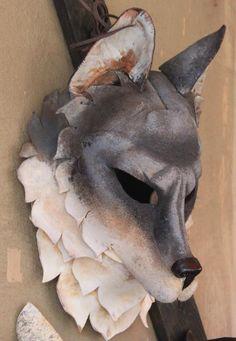 Cool Wolf Mask by Rainwalker Masks