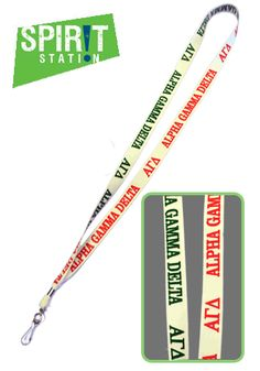 Alpha Gamma Delta Lanyard-On sale this week! (1/20-1/26/13)
