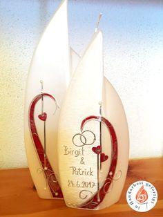 Kerzenmodelle - Ingrid Weitenthaler | Kunsthandwerkerin | Gaal | Murtal Surfboard, Candles, Manualidades, Embellishments, Wedding Ideas, Crafts, Scale Model, Weihnachten, Surfboard Table