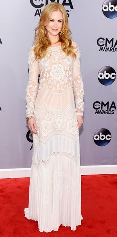 The Best Looks From the 2014 CMA Awards - Nicole Kidman Roberto Cavalli from #InStyle