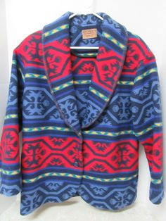 Knockabouts by Pendleton South Western Print Wool Blend Jacket Blue Red Yellow M #Pendleton #BasicJacket