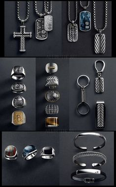mens accessories under 10 dollars Men Accesories, Jewelry Accessories, Fashion Accessories, Jewelry Design, Fashion Jewelry, Man Jewelry, Fashion Goth, Style Masculin, Tattoo Und Piercing