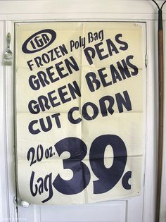Vintage Grocery Store Window Posters