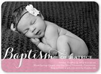 Precious Swirls Girl Baptism Invitation
