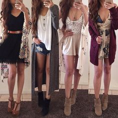 Recent OOTD's. Which one would you wear 1,2,3,4? Comment below ❤️️