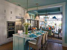 Kitchen with Island and Pendant Lights - 99 Beautiful Kitchen Island Design Ideas on HGTV