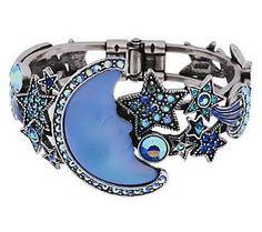 Kirks Folly Seaview Moon Shadow Hinged Cuff Bracelet