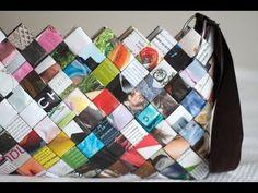 DIY Woven Paper Bag - Sac en Magazine - YouTube