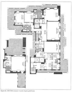The floor plan of karen blixen 39 s african house out of for 1040 5th avenue 15th floor