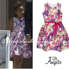 Sasha Obama in our blush by us angels floral dress #usangels #fashionkids #iphonesia #cute #instakids #beautiful #instagood