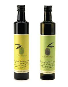 La Belle Excuse  Olive Oil Label Design, Packaging Design, Olive Oil Packaging, Food Branding, Olive Oil Bottles, Cosmetic Design, Best Oils, Wine Label, Bottle Design