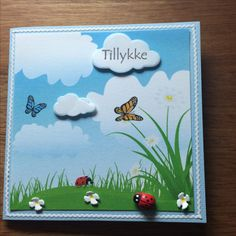 10x10 Sommerfugle /butterfly Mariehøne Toppers